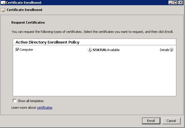 wsus-certificate-enroll