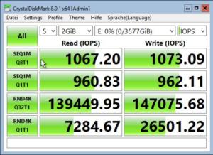 Crystaldisk Benchmark SSD